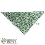 Scarf: Newline Miniatures Bandana w/ Metal Ring (Green)