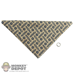 Scarf: Newline Miniatures Bandana w/ Metal Ring (Blue/Tan)