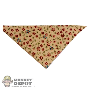 Scarf: Newline Miniatures Bandana w/ Metal Ring (Flowers)