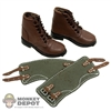 Boots Newline Miniatures German WWII Short Brown Cloth Gaiters
