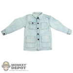 Jacket: Newline Miniatures Denim Work Jacket Faded (Light Blue)