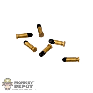 Ammo: Newline Miniatures Brass Pistol Rounds (Set of 6)