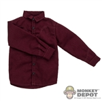 Shirt: Newline Miniatures Western Burgundy Shirt