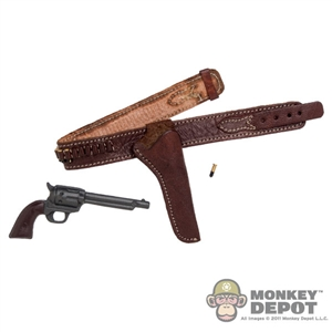 Holster: Newline Miniatures Leather Belt w/Holster & Pistol