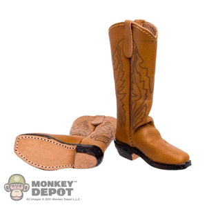 Boots: Newline Miniatures Mule Ear Boots Tan