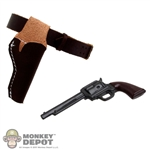 Holster: Newline Miniatures Cowboy Pistol w/Brown Holster Set