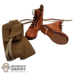Boots: Newline Miniatures Japanese WWII Short Brown w/Puttees