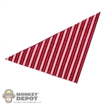 Scarf: Newline Miniatures Bandana (Red/Pink Striped)