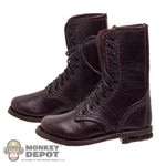 Boots: Newline Miniatures Fallschirmjager Front Lacing Brown