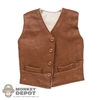 Vest: Newline Miniatures Brown Leather Waistcoat