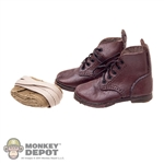 Boots: Newline Miniatures Brown Boots w/Puttees