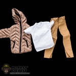 Clothing Set: Crazy Owner Gold Down Jacket Set For Muscle Body (COF-033AMG)