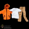 Clothing Set: Crazy Owner Orange Down Jacket Set For Muscle Body (COF-033AMO)
