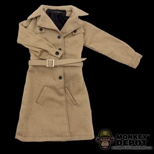 Coat: Phicen Ltd Female Overcoat - Tan