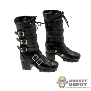 Boots: TBLeague Black Leatherlike w/ Buckles