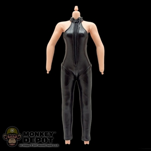 Figure: Phicen Female w/ Black Leather Body Suit (No Head, Hands or Feet)