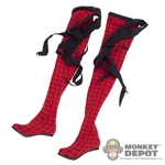 Leggings: Phicen Red Pattern Stocking w/Shoes *READ NOTES