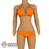 Bikini: Phicen Orange Bathing Suit w/Accessories