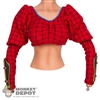 Shirt: Phicen Red Pattern Top w/Sewn in Forearm Armor