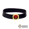 Belt: Phicen Black Leatherlike Belt w/Tiger Gear Buckle