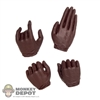 Hands: Phicen Brown Gloved Hand Set