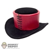 Hat: Phicen Black & Red Felt Top Hat