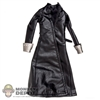 Jacket: Phicen Black Leatherlike Trench Coat