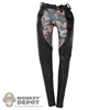 Pants: Phicen Black & Camo Leatherlike Pants