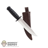 Knife: Phicen Blade w/Brown Sheath