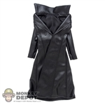Coat: Phicen Black Female Leatherlike Jacket