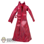 Coat: TBLeague Female Red Leatherlike Jacket