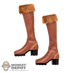 Boots: TBLeague Brown Fur Boots