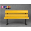 Diorama Bench: Play Toy Yellow Park Bench (F-002-C)