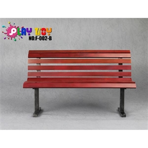 Diorama Bench: Play Toy Red Park Bench (F-002-B)