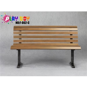 Diorama Bench: Play Toy Brown Park Bench (F-002-C)
