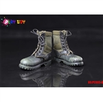 Boots: Play Toys Green & Black Combat Boots (PT-PC005A)