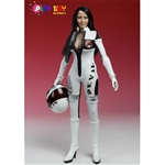 Boxed Figure: Play Toy Racing Girl In White (PT-P009A)
