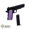 Pistol: Play Toy Hit Girl Pistol w/Purple Grips