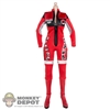 Suit: Play Toy Red Motorcycle Outfit w/Boots
