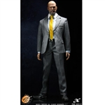 Clothing Set: POP Toys Mens Grey Striped Suit Set (POP-A03C)