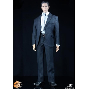 Clothing Set: POP Toys Mens Blue Striped Suit Set (POP-X03B)