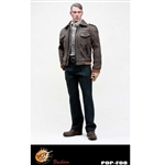 Uniform Set: POP Toys Leather Bomber Jacket Set (POP-F8)