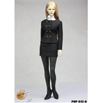 Clothing Set: POP Toys Female Business Suit Black (POP-1201A)