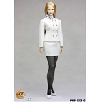 Clothing Set: POP Toys Female Business Suit White (POP-1201C)