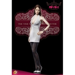 Outfit: POP Toys Premium Version V-Neck Sheath Dress in White (POP-F19C)