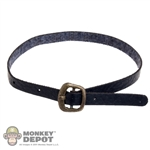 Belt: POP Toys Black Leatherlike Belt w/Gold Buckle