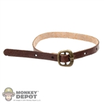 Belt: POP Toys Brown Leatherlike Belt w/Gold Buckle