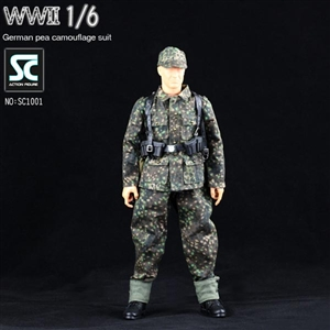 Uniform Set: Soldier Country German WWII Pea Camouflage Suit (SC1001)