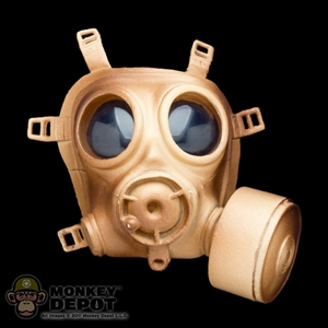 Gas Mask: Soldier Country Tan British Gas Mask