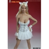 Clothing Set: Super Duck White Corset Dress Set (SUD-C007B)